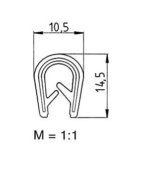 eutras bordes/ /4,5/mm /1177/ks1103/R22711102/Perfil refuerzo/ /Rango 1/ color blanco 10/m