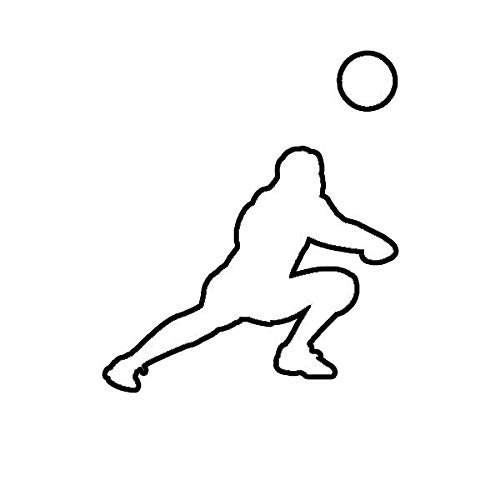 Silouette Girl (ION Graphics Magnet Womens Volleyball Magnetic Vinyl Girl Dig Silouette 5