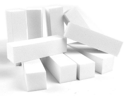 10pcs White Nail Art Buffer Buffing Sanding Files Block Pedicure Care DIY