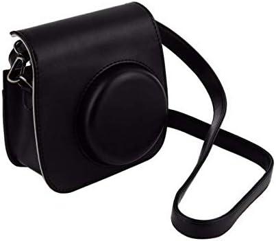 Black Leather Camera Strap Bag Case Cover Pouch Protector For Polaroid Camera For Fuji Fujifilm Instax Mini 8