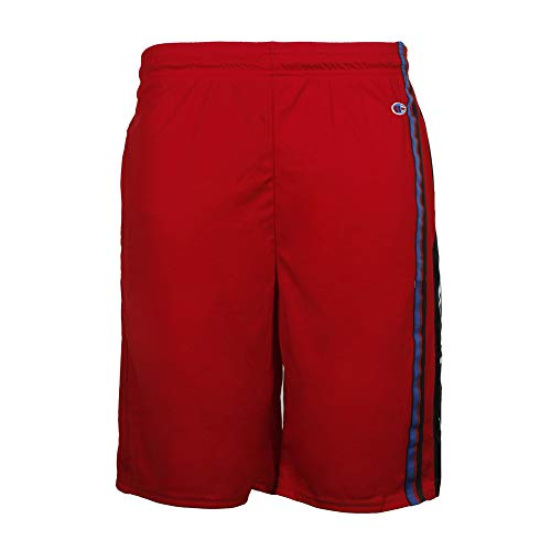 Mens Champion Jersey Short (Champion Men's Elevated Basketball Short, Scarlet/Black, M)