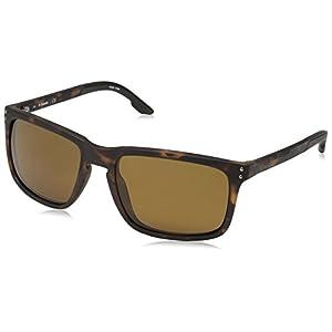 Columbia Men's Holston Ridge Polarized Rectangular Sunglasses, Matte Tort, 58 mm