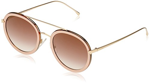 Fendi Women's Funky Angle Round Sunglasses, Pink/Brown, One - Round Fendi Sunglasses