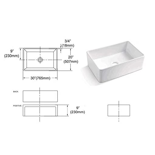 Farmhouse Kitchen 30 White Farmhouse Sink – GhomeG 30 Inch Farmhouse Kitchen Sink Apron Front White Ceramic Porcelain Fireclay Single Bowl… farmhouse kitchen sinks