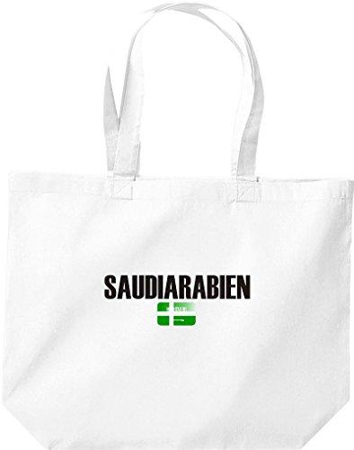 große Bolsa de compra, Arabia Saudita Land PAÍSES Fútbol blanco