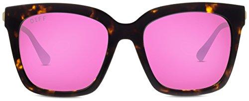 Designer Sunglasses - Diff Eyewear - Bella - Square Glasses - 100% UVA/UVB by DIFF (Image #7)