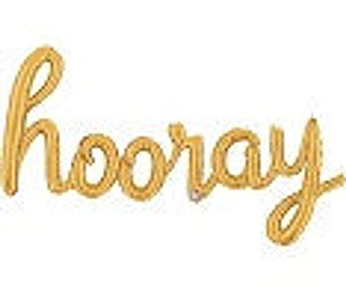 Gold Hooray Gold Script Balloons, Phrase, Gold, Cursive Balloon Banner, Baby Shower Balloons, Briday Shower, Hip Hop -