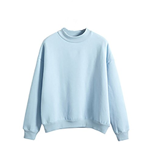 di Taglia Maniche Donne Liquidazione Lunghe Elegante Shirt Camicette in Tops Pullover Blu T Felpa Camicie Suede di Vendita Donna Forte Scamosciato da Casual dEZCwKqY