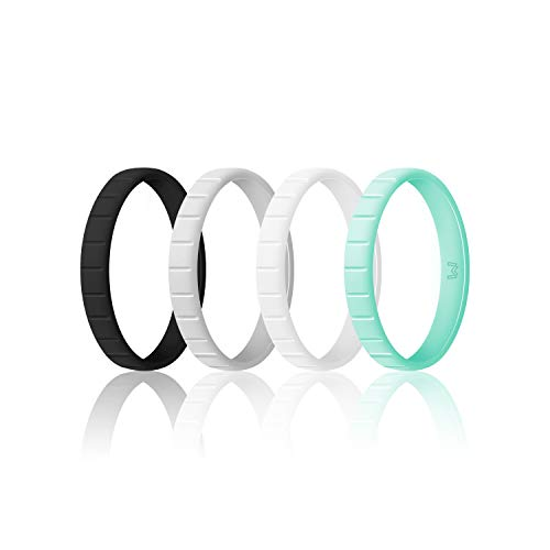 WIGERLON Womens Silicone Wedding Ring &Rubber Wedding Bands,Skin Safe for Workout and Sports Width 3mm (Best Way To Get To Kauai From Maui)
