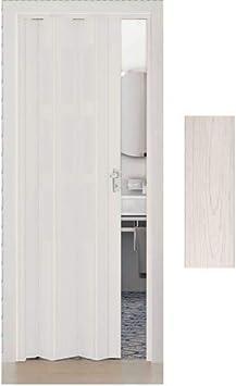 Maya Innenraum Faltt/ür in PVC Esche Wei/ß 83x214 cm mod