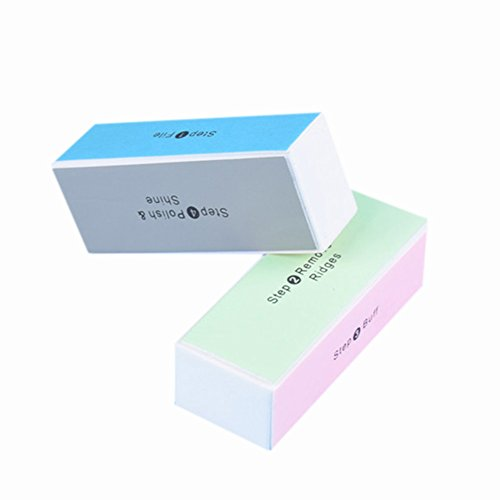 Gracefulvara Nail Finishing Polisher Buffer Block Manicure File Polishing Smooth Tool