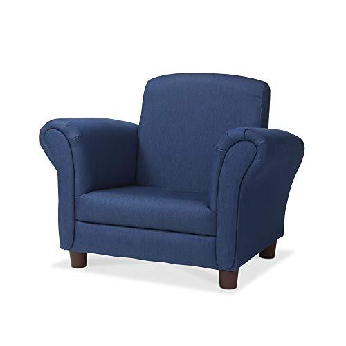 """'s Armchair, Denim Children's Furniture, Sturdy Construction, Multiple Colors, 18.3"""" H x 17.5"""" W x 23"""" L ()"""