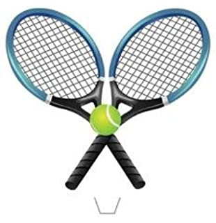 12 x Novelty Tennis Rackets and Ball Edible Standup Wafer Paper Cake Toppers