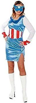 DISBACANAL Disfraz Capitán Americana Mujer - -, M: Amazon.es ...