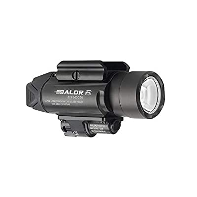 Olight Baldr Pro Green Laser and LED Light Combo, 1350 Lumen CW LED Flashlight, Quick Release Mount, 2 x CR123A Batteries and LegionArms Sticker (2- Black)