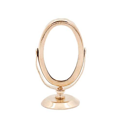 Odoria 1:12 Miniature Golden Mirror for Dresser Dollhouse Bathroom -