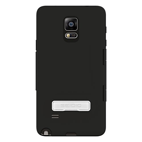(Seidio CAPSA Touchview Case with Metal Kickstand for Samsung Galaxy Note 4 - Retail Packaging - Black )