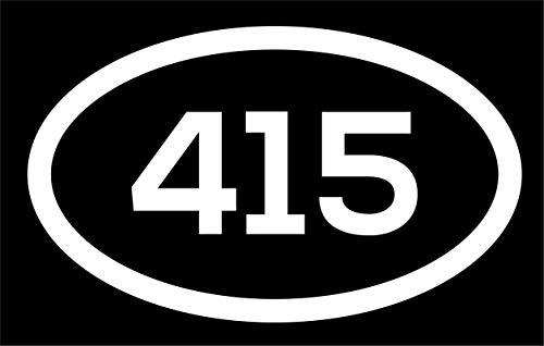 DHDM 415 Area Code Sticker California San Francisco Novato San Anselmo City Pride Love | 5-Inches by 3-Inches | Premium Quality White Vinyl | ND488 -