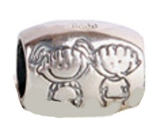 3ac2ae89f Brother Sister Charm Bead 925 Sterling Silver Fits Pandora Charm Bracelet:  Amazon.co.uk: Jewellery