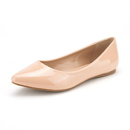 DREAM PAIRS Sole Classic Women's Casual Pointed Toe Ballet Comfort Soft Slip...