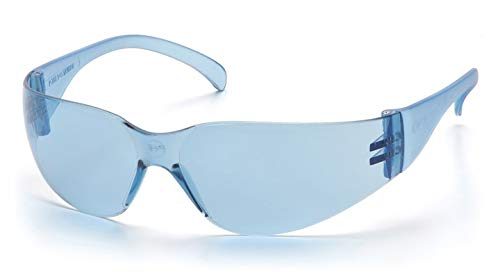 ZTEK Safety Glasses with Temple Blue Lens 12 Pair / Box by Pyramex Safety - MS97139
