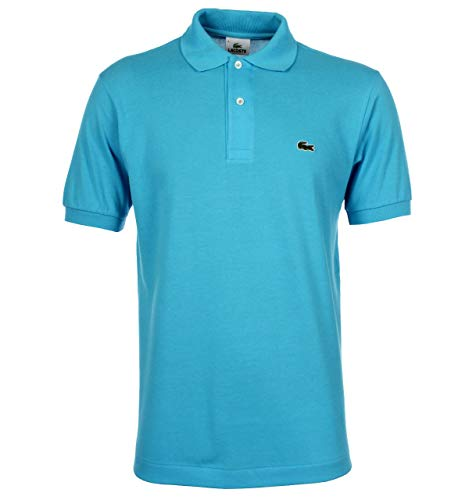 Lacoste Men's Classic Short Sleeve L.12.12 Pique Polo Shirt,Dragonfly Blue,Small