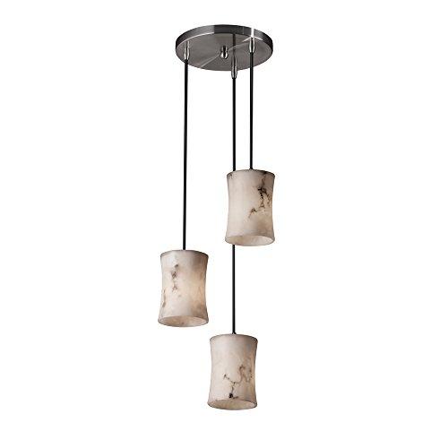 Justice Design Group FAL-8818-60-NCKL LumenAria Collection Mini 3-Light Cluster Pendant ()