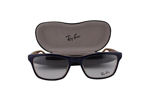 Ray Ban RX5279 Eyeglasses 53-18-145 Top Blue On Variegated Beige 5131 RB5279