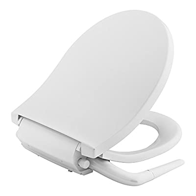 KOHLER K-76923-0 Puretide Manual Cleansing Round Toilet Seat, White