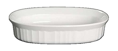 Corning Ware French White Oval Individual Casserole/No Lid (16 Oz / 475 mL) ()