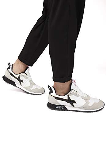 E m W6yz Beige Pelle In sneakers Nylon Jet 6X8qw1