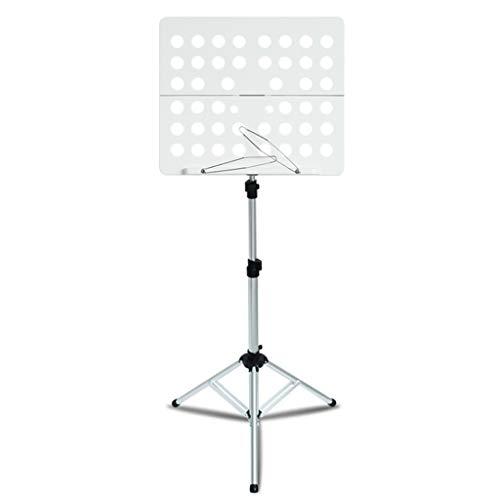 Nosterappou Soporte de música portátil de Aluminio fácil de Viajar, cinturón de Transporte de luz Plegable, Panel...