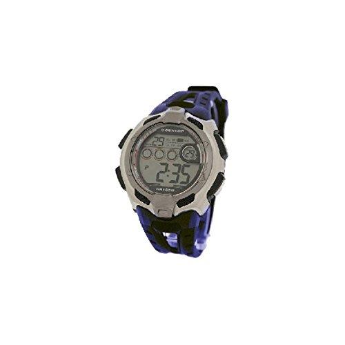 Dunlop DUN-79-G03 Reloj digital para hombre, de cuarzo con correa de caucho negra y azul: Amazon.es: Relojes