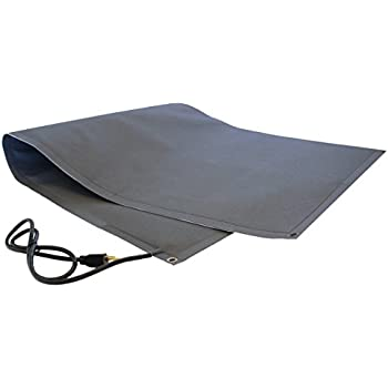 RHS Snow Melting Mat, Heated Walkway Mat, Melts 2 inches of snow per hour as it lands, Color black, Anti Slip Traction, Sandpaper like design, Buy Factory Direct, Heated Mat (2'ft. x 10'ft.)