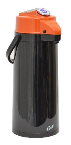 Wilbur Curtis Thermal Dispenser Air Pot, 2.2L Black Body Glass Liner Lever Pump Decaf - Commercial Airpot Pourpot Beverage Dispenser - TLXA2203G000D (Each)