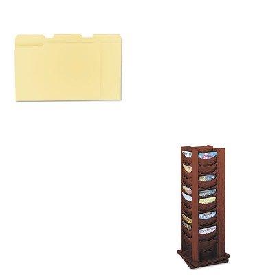 KITSAF4335MHUNV12113 - Value Kit - Safco Rotary Display (SAF4335MH) and Universal File Folders (UNV12113)