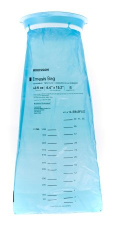 McKesson Emesis Bag McKesson 40 fl. oz. Blue (25 Per sleeves)