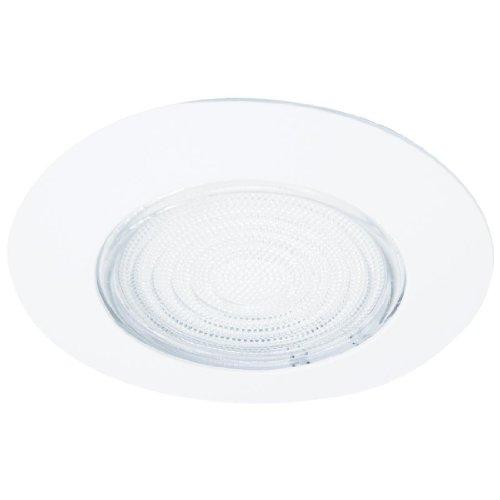 NICOR Lighting 17502 White Lexan Shower Trim with Fresnel Lens, 6-Inch - Fresnel Shower Trim