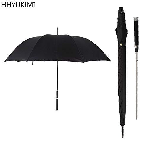 Brand Fashion Long Handle Man Automatic Umbrella Windproof Business Sword Warrior Sunny Creative Umbrella (Creative Umbrella)