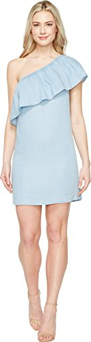 7 For All Mankind Women's One Shoulder Dress, RIOV, X-Small