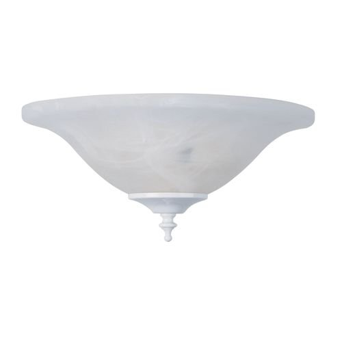 Concord Y-202S Glass Bowl Shade for Use with Y-2001 Fitter, White (Glass Bowls Concord)