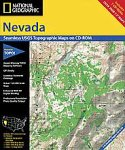 National Geographic TOPO! Nevada Map CD-ROM (Windows)