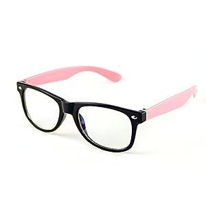 Cyxus Blue Light Blocking Glasses for Kids and Teens Anti Eyestrain Eyewear, Pink Frame