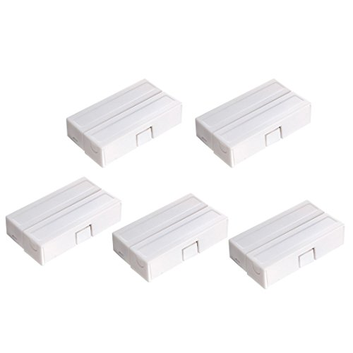 uxcell 5pcs MC-51 Surface Mount Wired NC Door Contact Sensor Alarm Magnetic Reed Switch White by uxcell