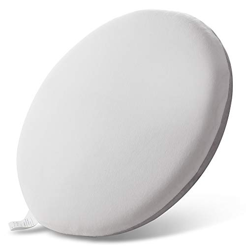 Seat Cushion for Kitchen Dining Chairs , Memory Foam Butt Pad with Washable Flannel Fabric Non Slip Stool Round Cushion Housefar