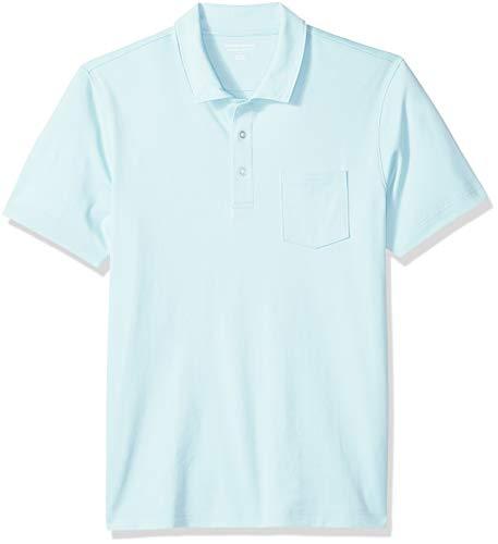 Amazon Essentials Men's Slim-Fit Pocket Jersey Polo, Aqua, X-Large]()