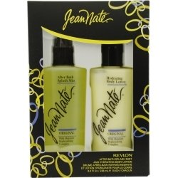 Jean Nate for Women 2 Piece Gift Set (After Bath Splash Mist, Body Lotion), 8 Ounce