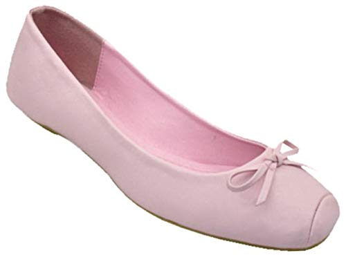 Best Misty Fashion Fuschia So Flat Ballet Shoes for Women with Bow Low Platform Casual Ballerina Loafer Fancy Cute Work Jean Dress Slippers Sandals Christmas New Gift Idea Sale 2018 (Size 8, Pink) -