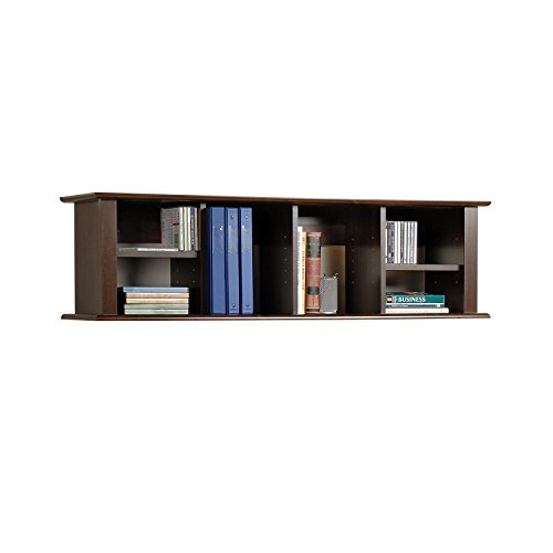 espresso wall mounted desk hutch - Wall Hanging Book Shelf