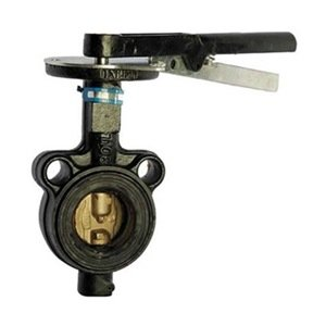 Milwaukee Valve - HW-232B 2 - Butterfly Valve, Wafer, Size 2 In by Milwaukee Valve
